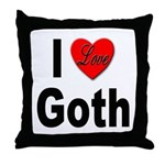 I Love Goth Throw Pillow