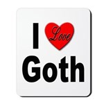 I Love Goth Mousepad