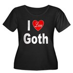 I Love Goth (Front) Women's Plus Size Scoop Neck D