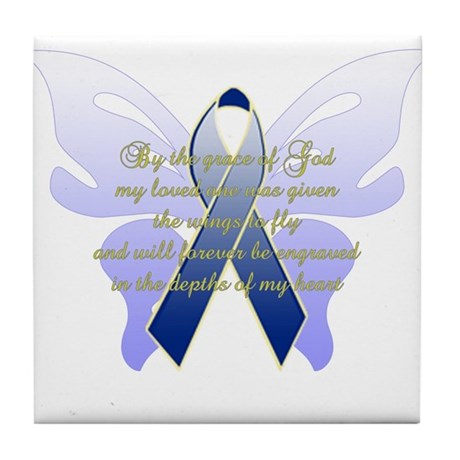 COLON CANCER Tile Coaster
