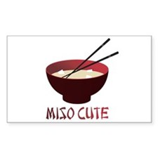 Miso Cute Rectangle Decal
