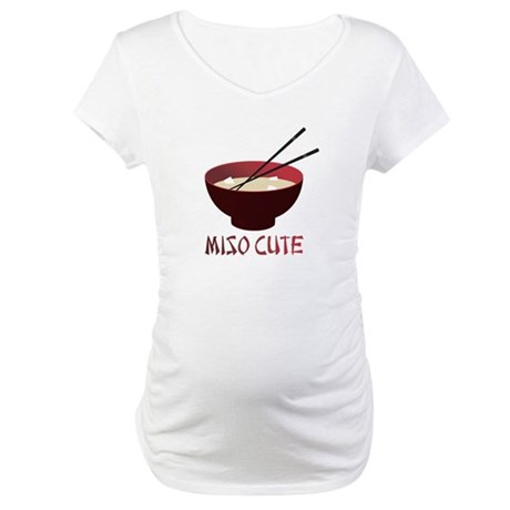 Miso Cute Maternity T-Shirt