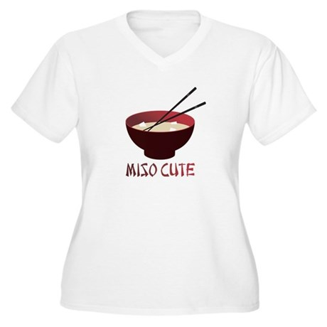 Miso Cute Women's Plus Size V-Neck T-Shirt