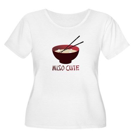 Miso Cute Women's Plus Size Scoop Neck T-Shirt