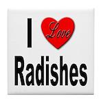 I Love Radishes Tile Coaster