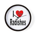 I Love Radishes Wall Clock