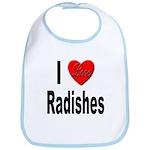 I Love Radishes Bib