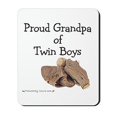 Proud Grandpa of Twin Boys Baseball Mousepad