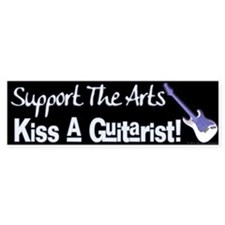 Kiss a Guitarist! Bumper Bumper Sticker