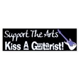 Kiss a Guitarist! Bumper Car Sticker