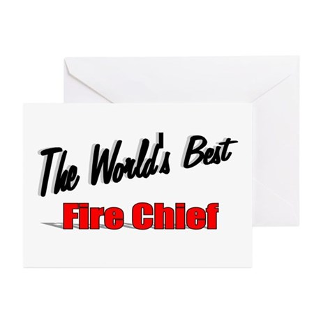 """The World's Best Fire Chief"" Greeting Cards (Pk o"