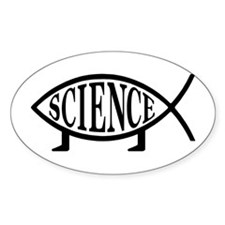 Science Fish Oval Decal