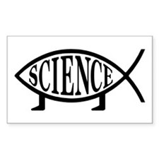 Science Fish Rectangle Decal