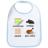 Snacks for Smart Babies Bib