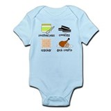 Snacks for Smart Babies Onesie