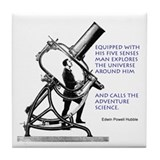 Hubble Quote Tile Coaster