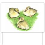 Snowy Mallard Ducklings Yard Sign