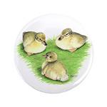 "Snowy Mallard Ducklings 3.5"" Button (100 pack"