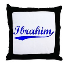 Vintage Ibrahim (Blue) Throw Pillow