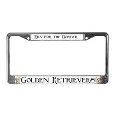 Golden Retriever Auto Parts License Plate Frame