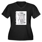 """Fear Clowns"" Women's Plus Size V-Neck Dark T-Shir"