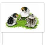 Creme Brabanter Chicks Yard Sign