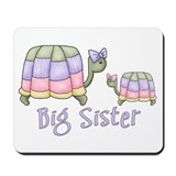 Pastel Turtles Big Sister Mousepad