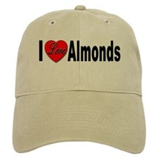 I Love Almonds Baseball Cap