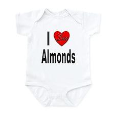 I Love Almonds Infant Bodysuit