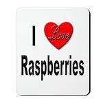 I Love Raspberries Mousepad