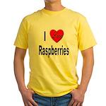 I Love Raspberries Yellow T-Shirt