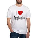 I Love Raspberries Fitted T-Shirt