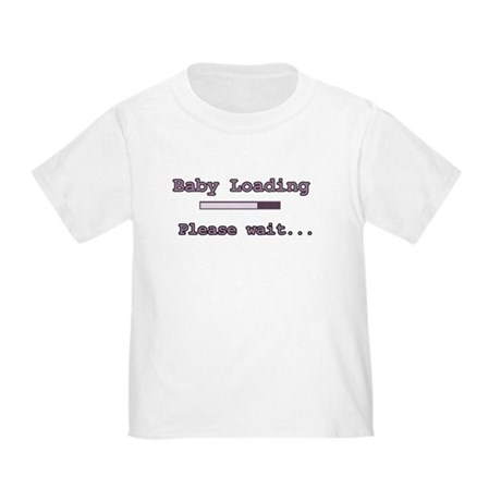 Purple Baby Loading Toddler T-Shirt