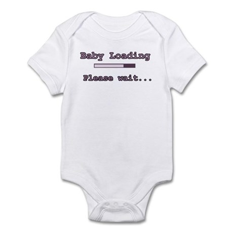 Purple Baby Loading Infant Bodysuit