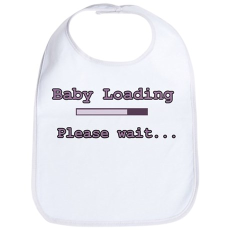 Purple Baby Loading Bib