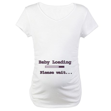 Purple Baby Loading Maternity T-Shirt