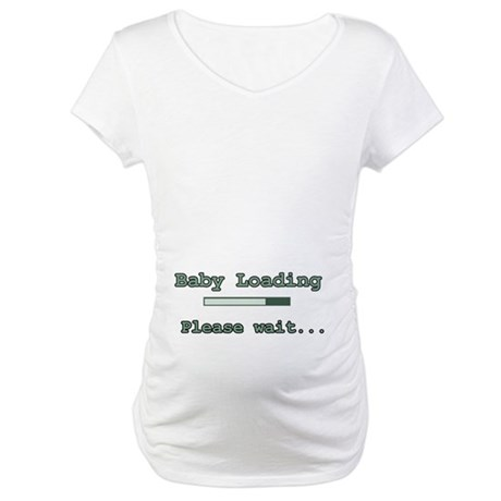 Green Baby Loading Maternity T-Shirt