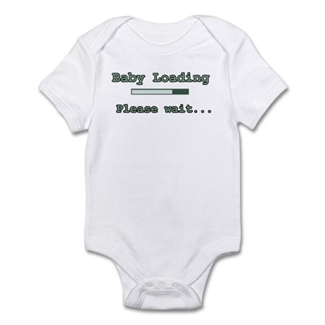 Green Baby Loading Infant Bodysuit