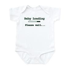 Green Baby Loading Infant Bodysuit