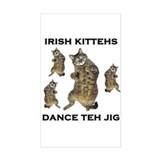 Irish Kitteh Rectangle Decal