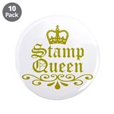 "Gold Stamp Queen 3.5"" Button (10 pack)"