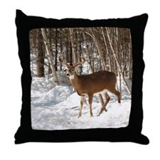 10 Point Buck Throw Pillow