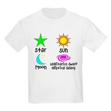 Astronomy for Smart Babies Kids Light T-Shirt