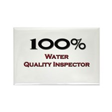 100 Percent Water Quality Inspector Rectangle Magn