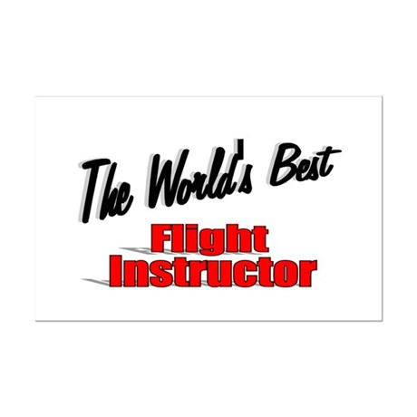 """The World's Best Flight Instructor"" Mini Poster P"