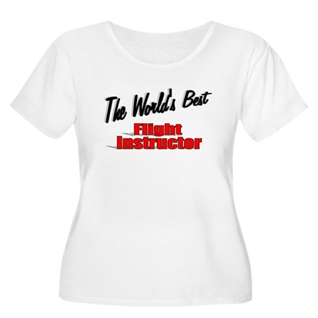 """The World's Best Flight Instructor"" Women's Plus"
