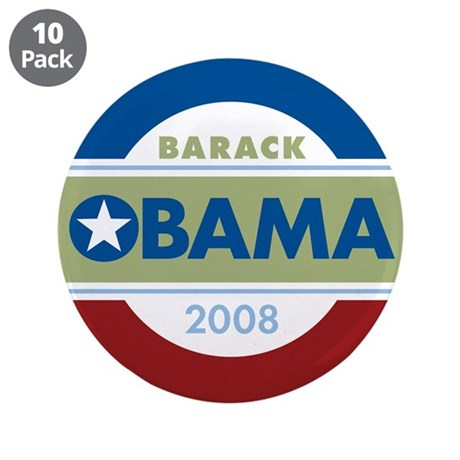 "Barack Obama 3.5"" Button (10 pack)"