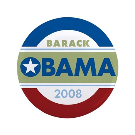 "Barack Obama 3.5"" Button"