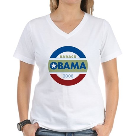 Barack Obama Women's V-Neck T-Shirt