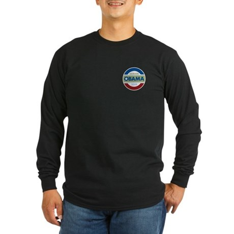 Barack Obama Long Sleeve Dark T-Shirt